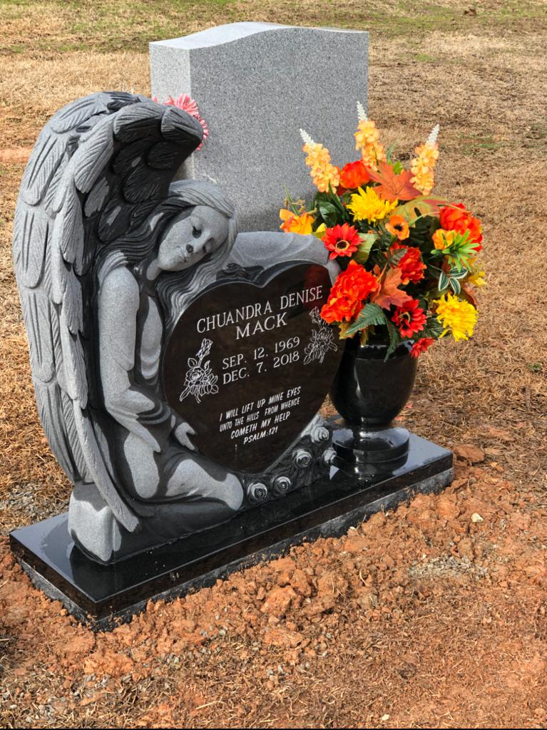 fallen angel heart with vase